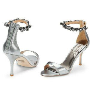 🆕Badgley Mischka Embellished Ankle Strap Sandal